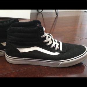 High Top Vans Sneakers - Size 9